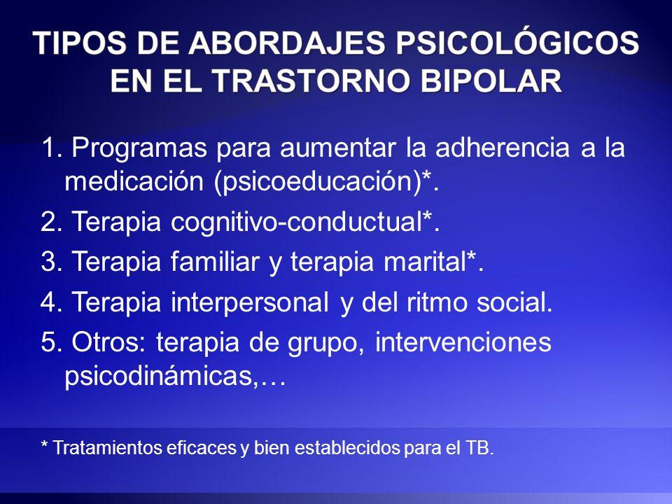 2. Terapia cognitivo-conductual*.