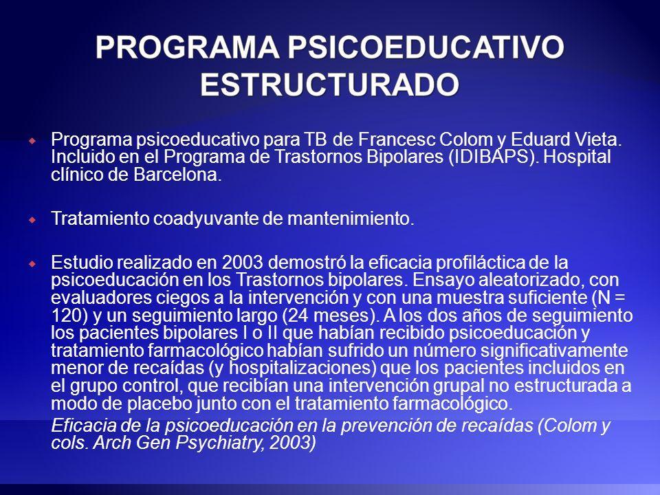 Programa psicoeducativo para TB de Francesc Colom y Eduard Vieta