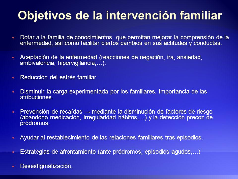 Dotar a la familia de conocimientos que permitan mejorar la comprensión de la enfermedad, así como facilitar ciertos cambios en sus actitudes y conductas.