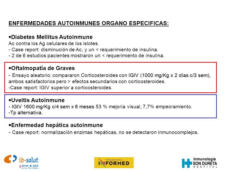 ENFERMEDADES AUTOINMUNES ORGANO ESPECIFICAS: