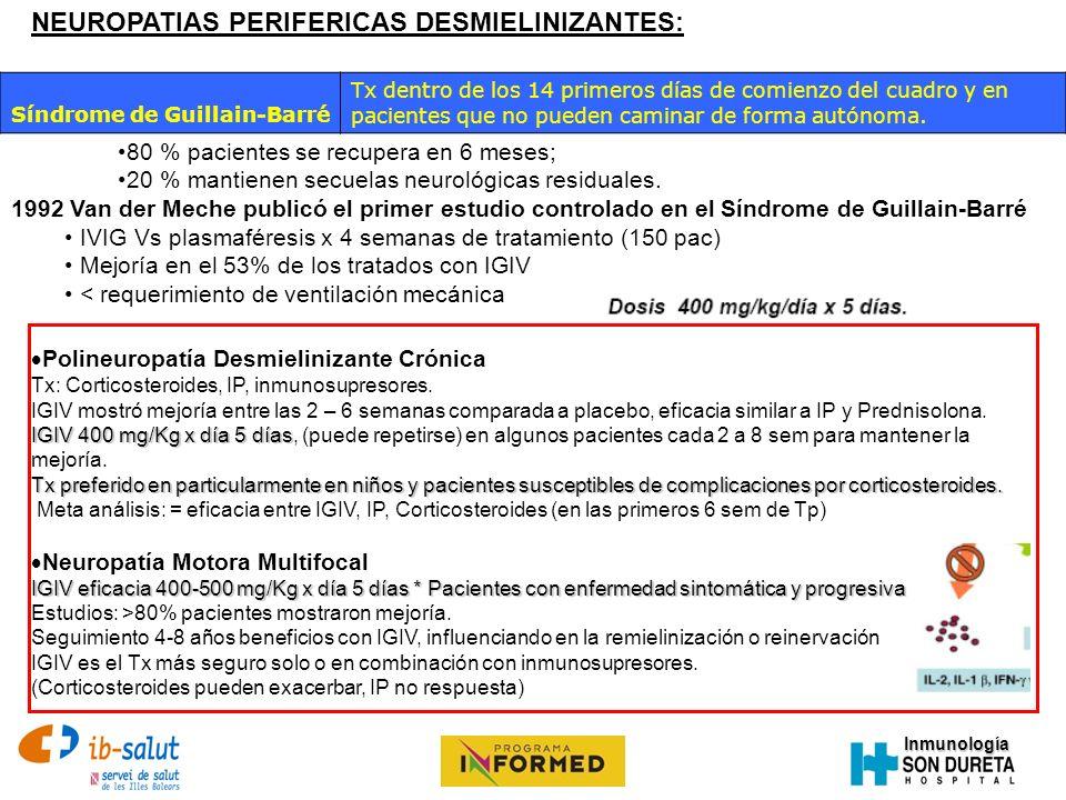 NEUROPATIAS PERIFERICAS DESMIELINIZANTES: