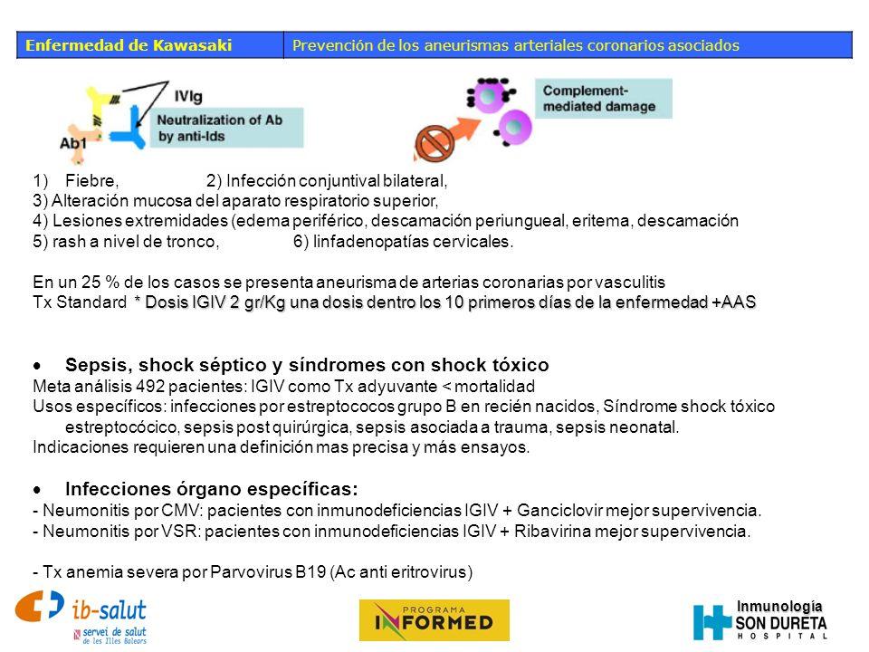 Sepsis, shock séptico y síndromes con shock tóxico