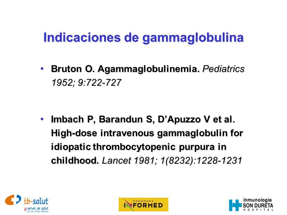 Indicaciones de gammaglobulina