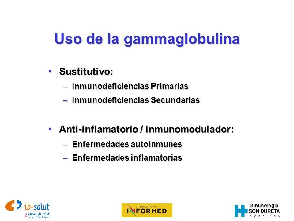 Uso de la gammaglobulina