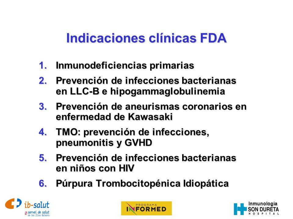 Indicaciones clínicas FDA