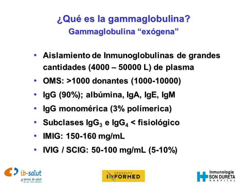 ¿Qué es la gammaglobulina Gammaglobulina exógena