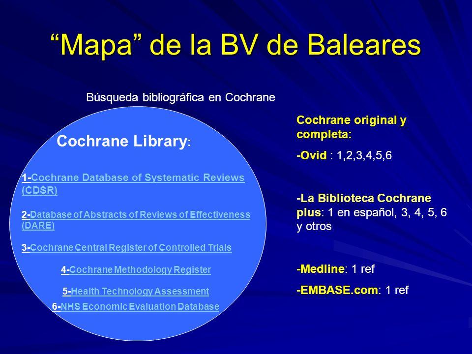 Mapa de la BV de Baleares
