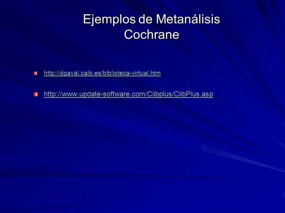 Ejemplos de Metanálisis Cochrane