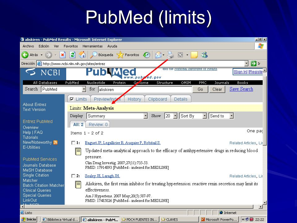 PubMed (limits)