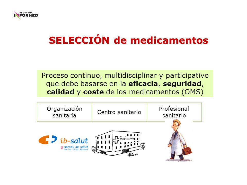 SELECCIÓN de medicamentos