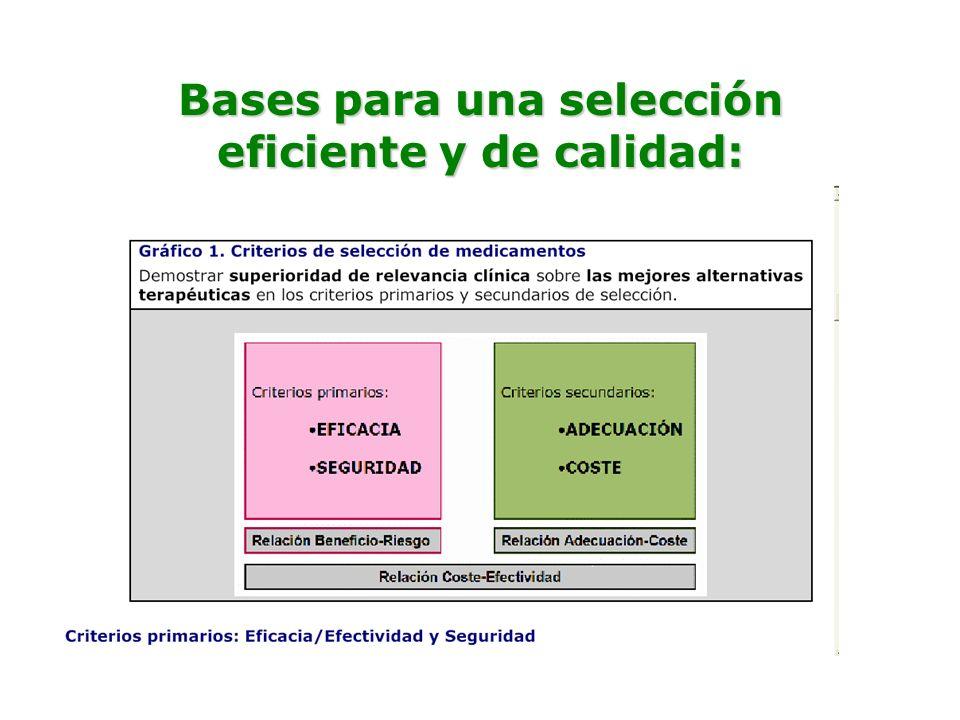 Bases para una selección eficiente y de calidad: