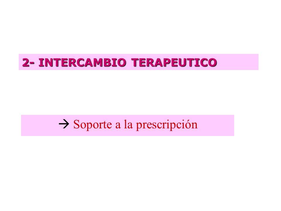  Soporte a la prescripción