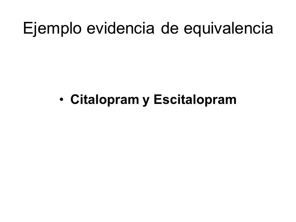 Ejemplo evidencia de equivalencia