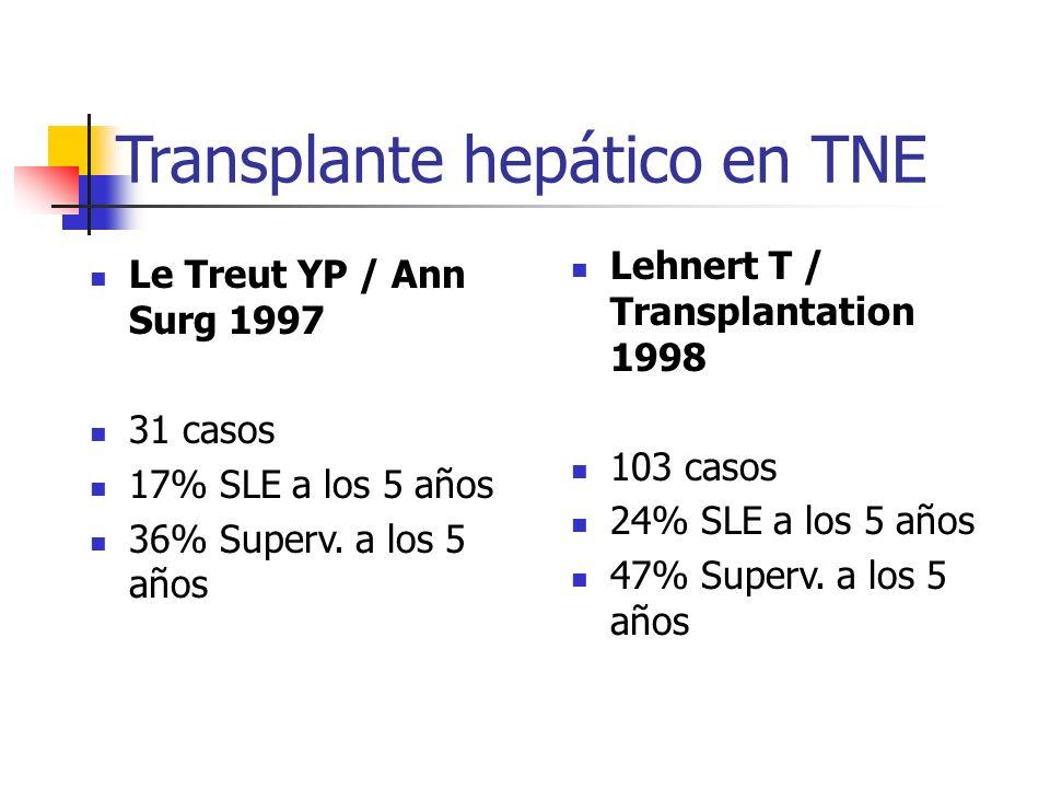 Transplante hepático en TNE