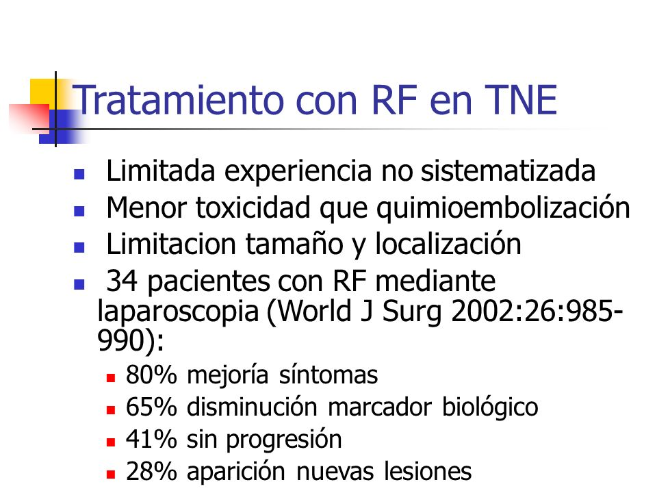 Tratamiento con RF en TNE
