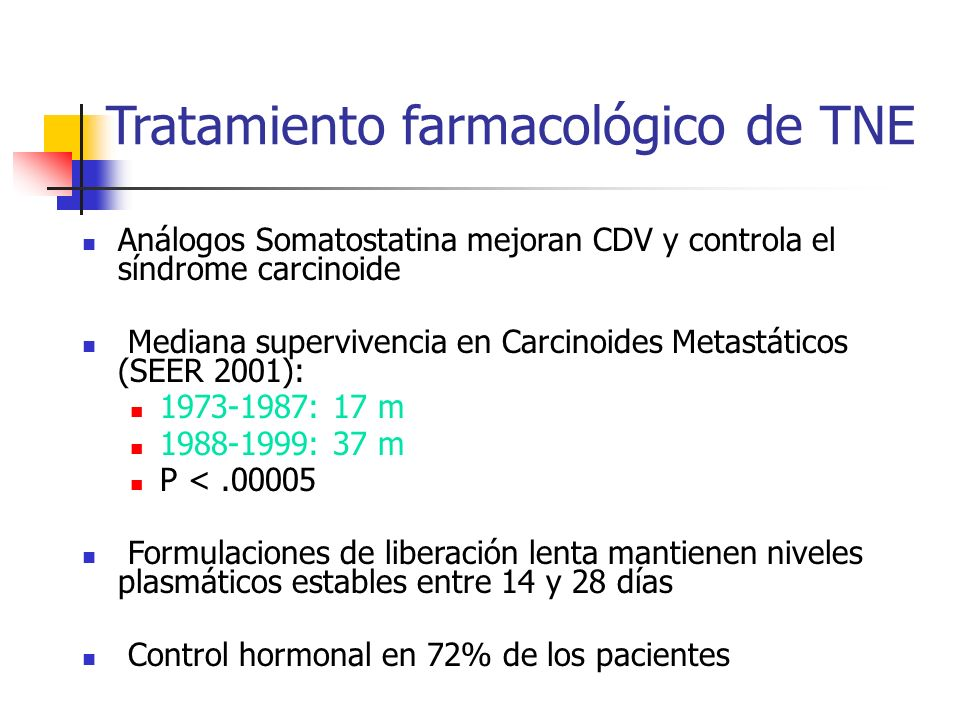 Tratamiento farmacológico de TNE