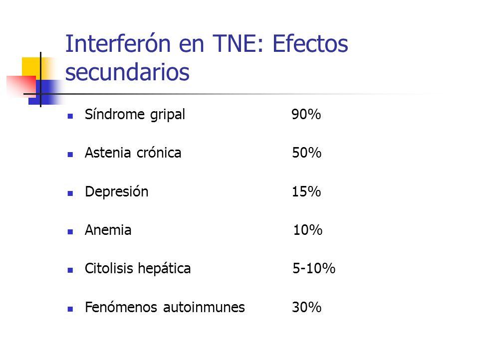 Interferón en TNE: Efectos secundarios
