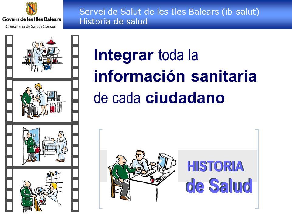 de Salud Integrar toda la información sanitaria de cada ciudadano