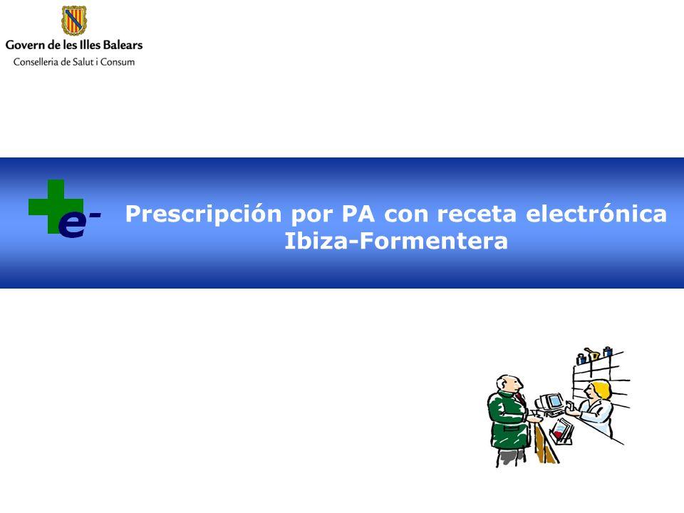 Prescripción por PA con receta electrónica Ibiza-Formentera