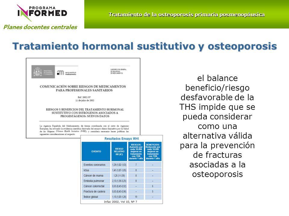 Tratamiento hormonal sustitutivo y osteoporosis
