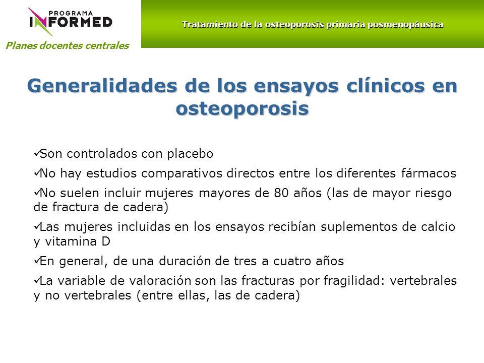 Generalidades de los ensayos clínicos en osteoporosis