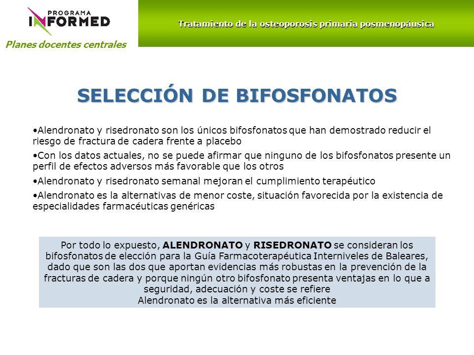 SELECCIÓN DE BIFOSFONATOS