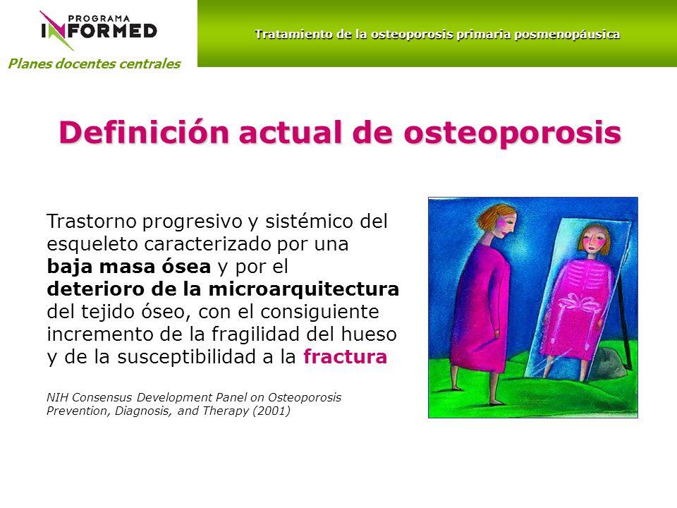 Definición actual de osteoporosis