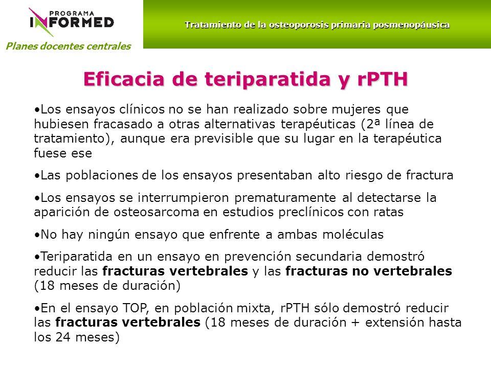 Eficacia de teriparatida y rPTH