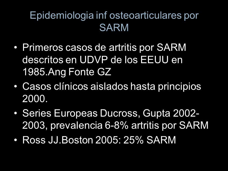 Epidemiologia inf osteoarticulares por SARM