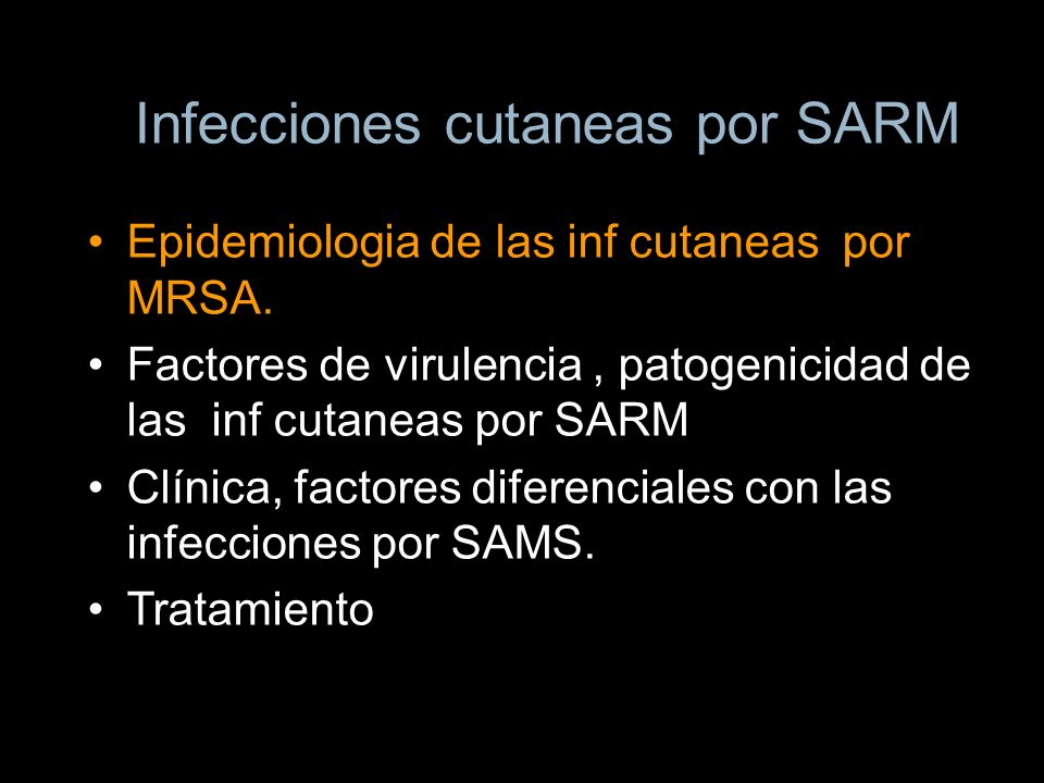 Infecciones cutaneas por SARM