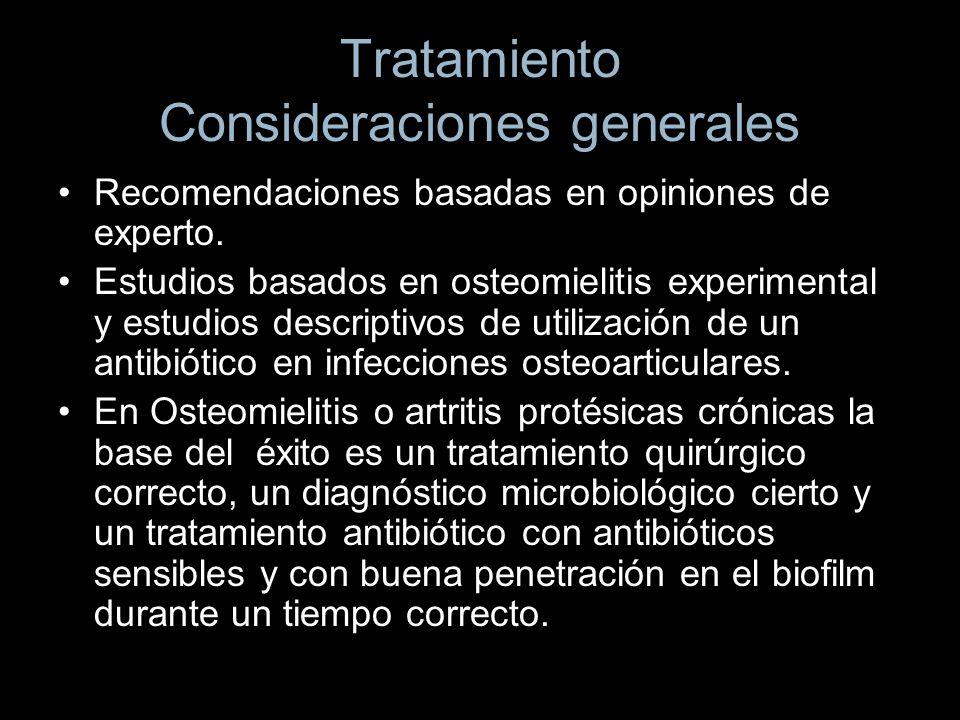 Tratamiento Consideraciones generales