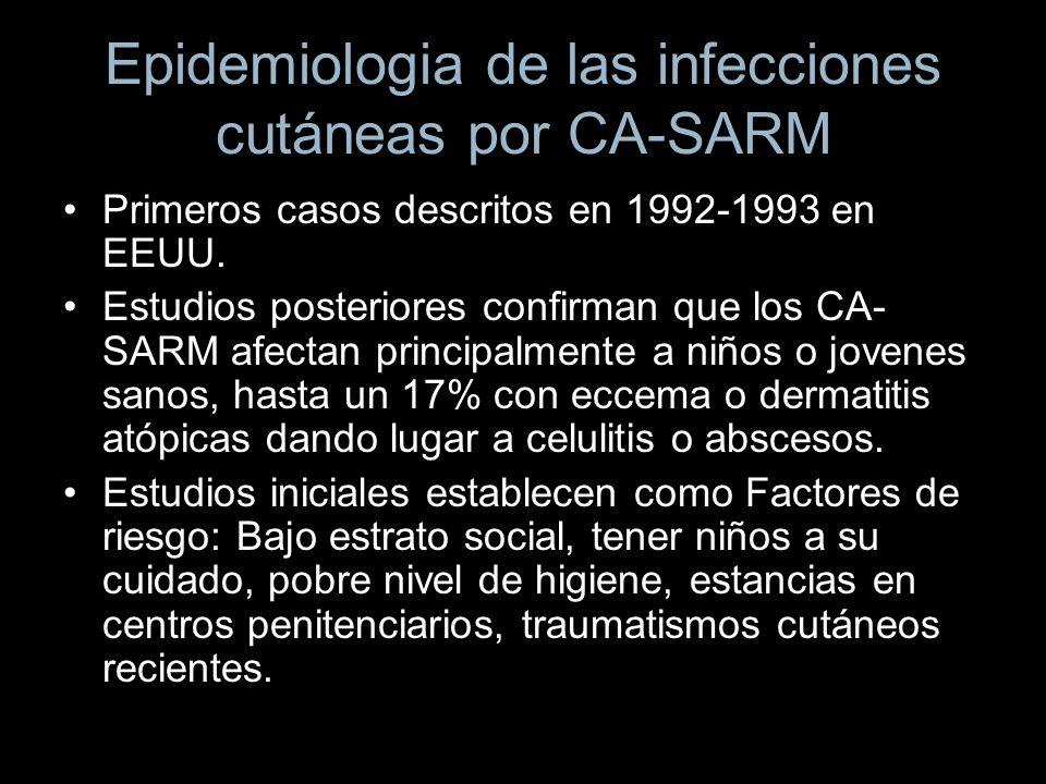 Epidemiologia de las infecciones cutáneas por CA-SARM