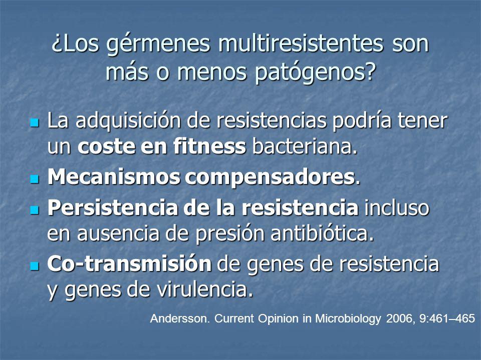 ¿Los gérmenes multiresistentes son más o menos patógenos