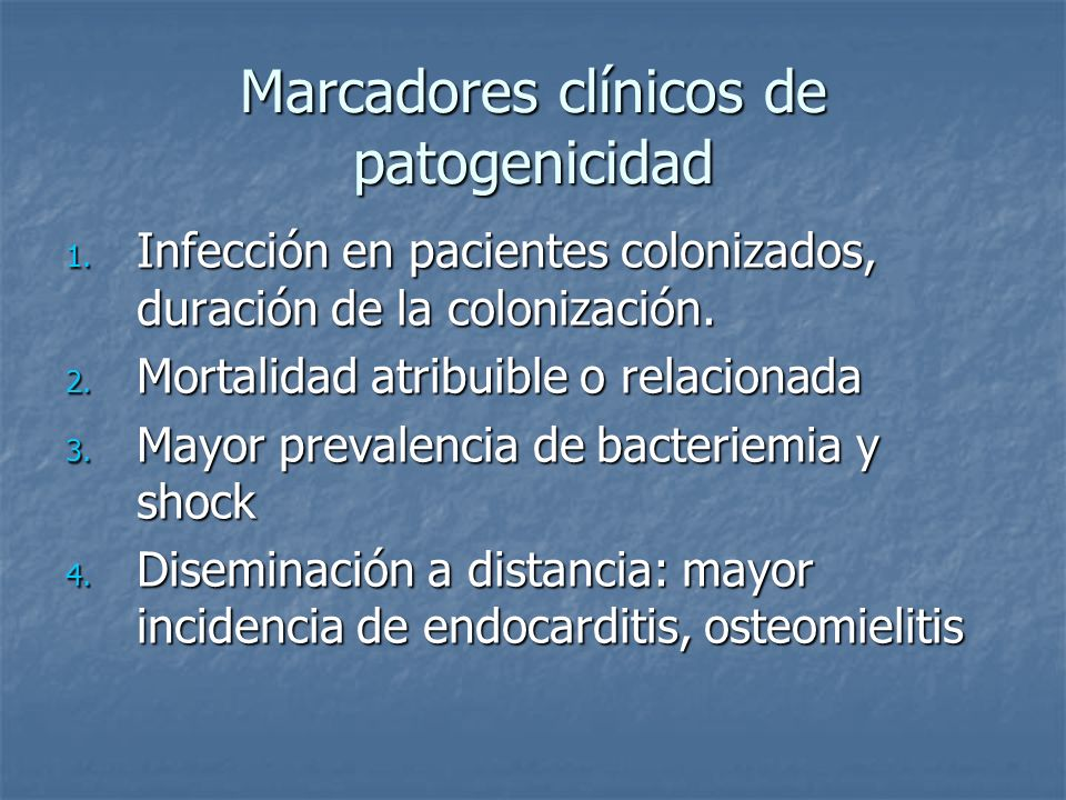 Marcadores clínicos de patogenicidad