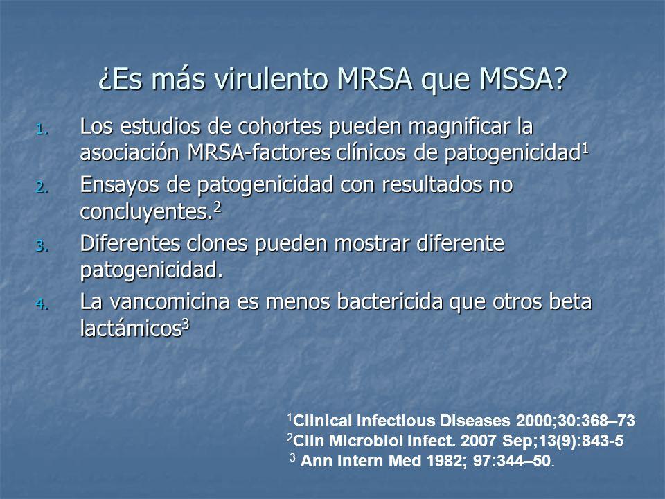 ¿Es más virulento MRSA que MSSA