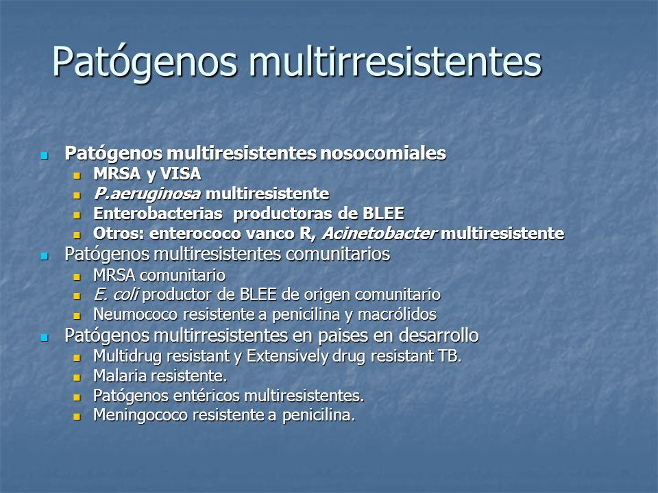 Patógenos multirresistentes