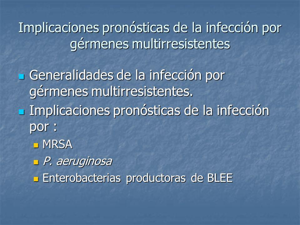 Generalidades de la infección por gérmenes multirresistentes.