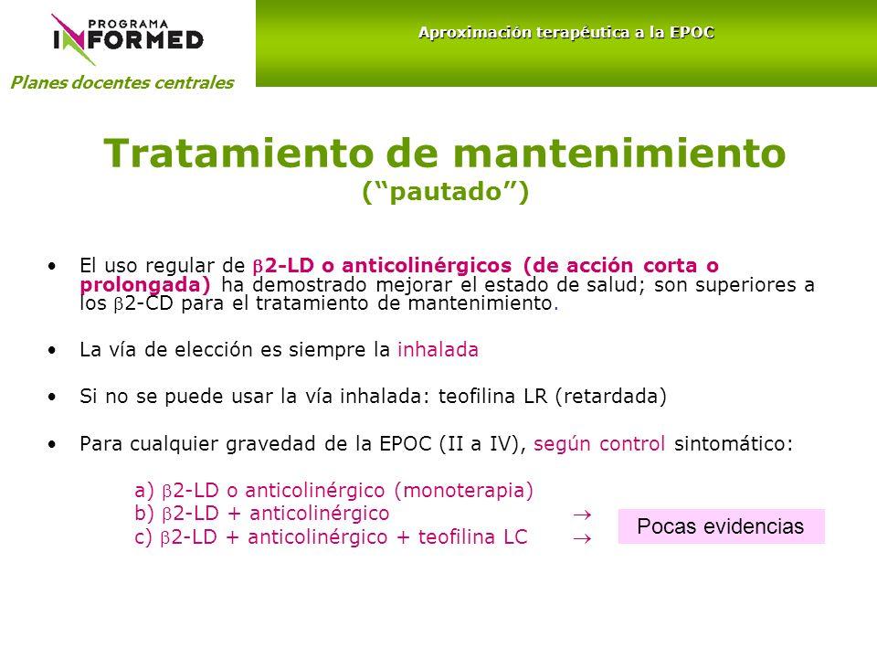 Tratamiento de mantenimiento ( pautado )