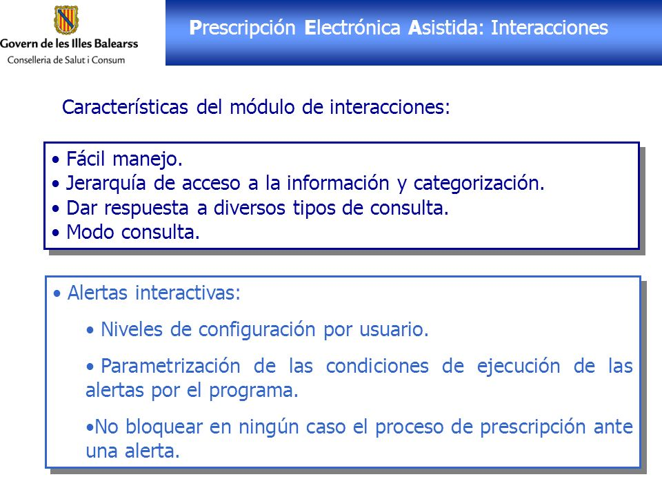 Prescripción Electrónica Asistida: Interacciones