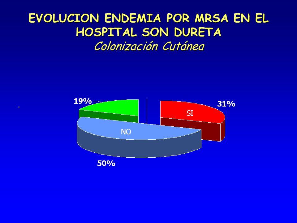 EVOLUCION ENDEMIA POR MRSA EN EL HOSPITAL SON DURETA Colonización Cutánea