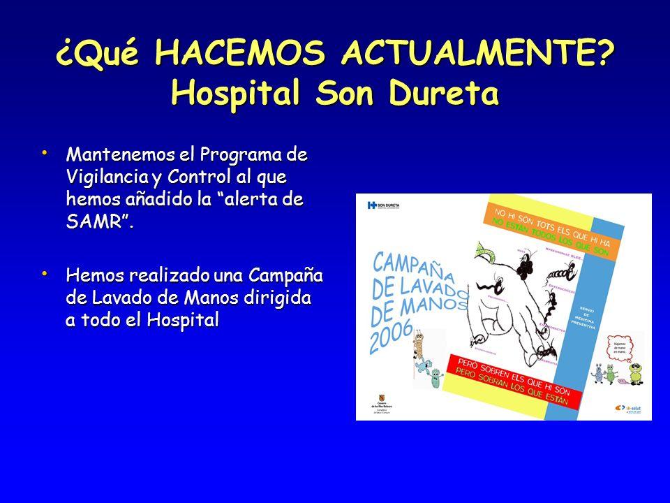 ¿Qué HACEMOS ACTUALMENTE Hospital Son Dureta