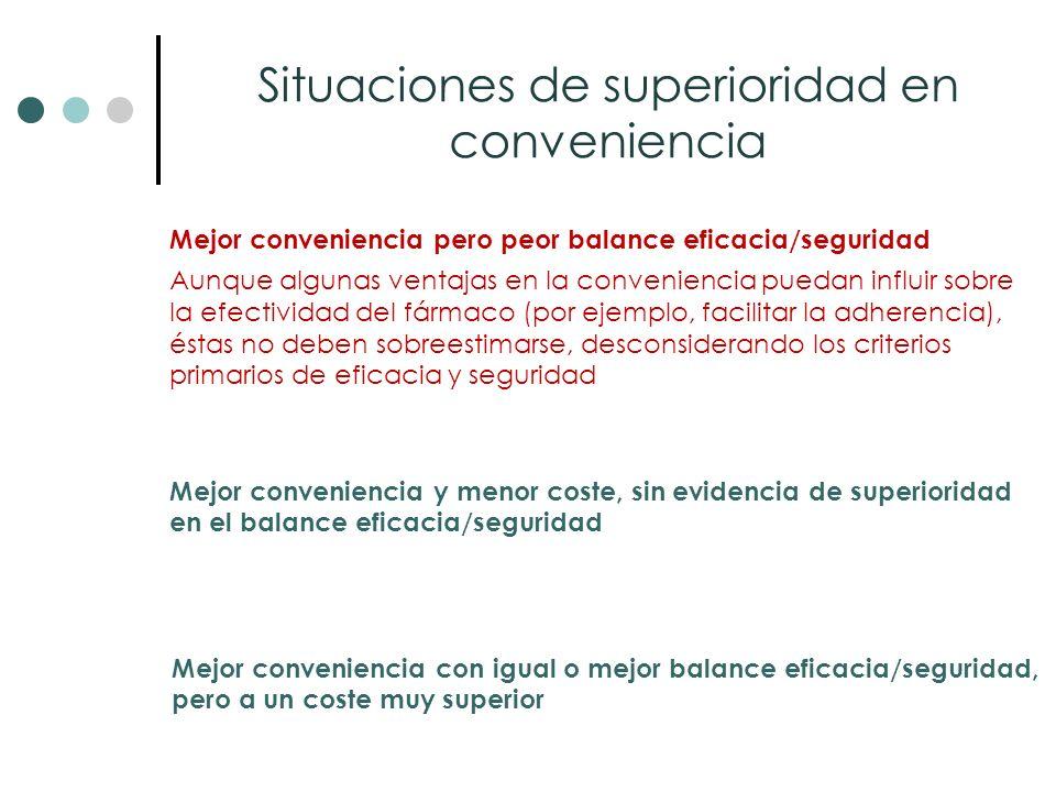 Situaciones de superioridad en conveniencia