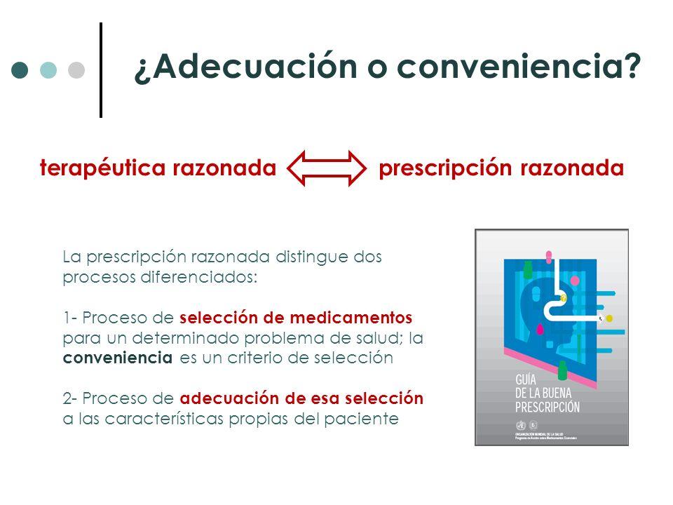 ¿Adecuación o conveniencia