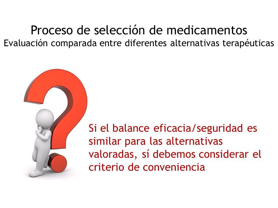 Proceso de selección de medicamentos