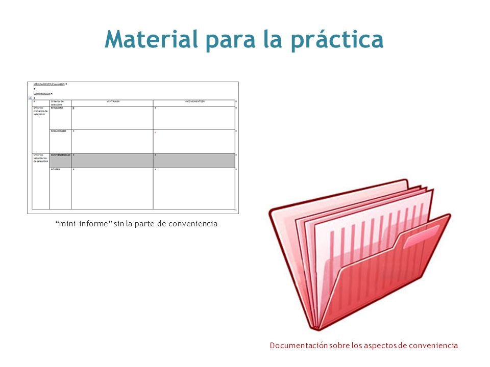 Material para la práctica