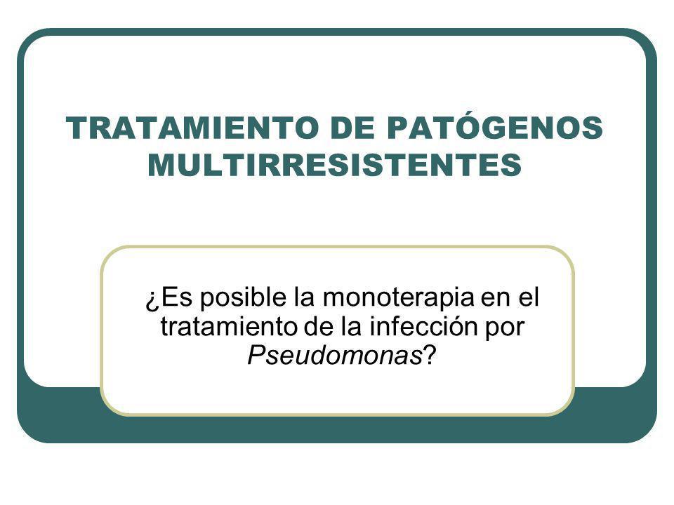 TRATAMIENTO DE PATÓGENOS MULTIRRESISTENTES