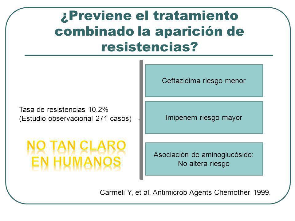 ¿Previene el tratamiento combinado la aparición de resistencias
