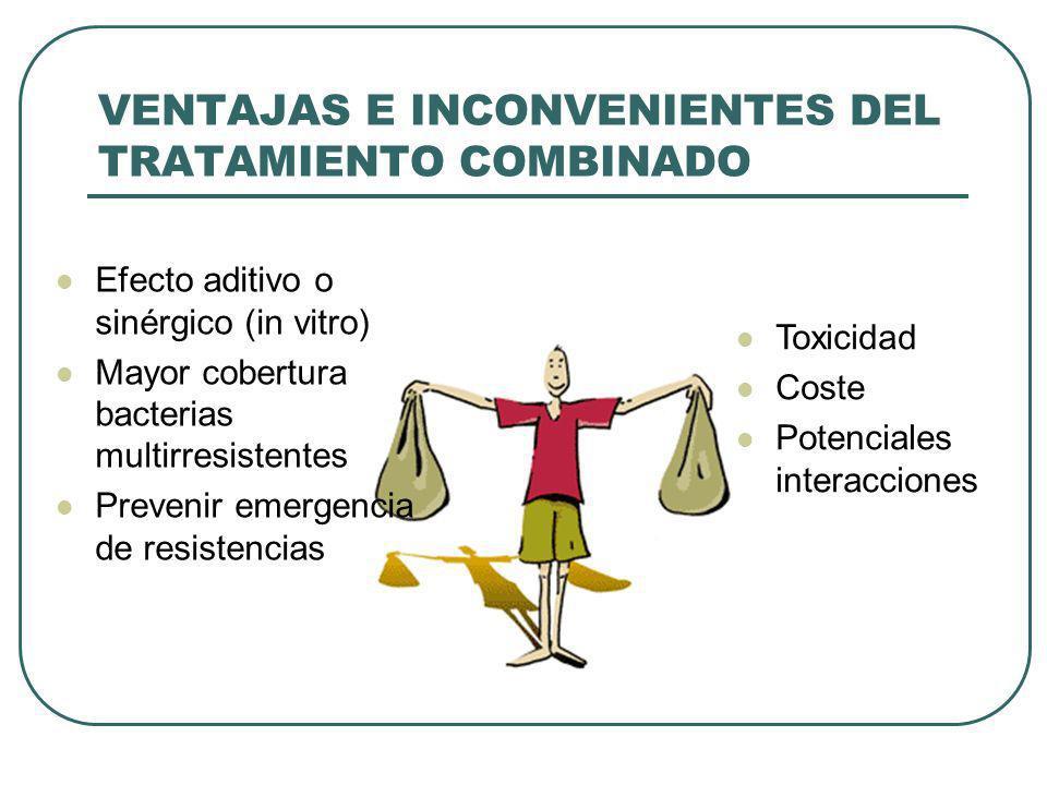 VENTAJAS E INCONVENIENTES DEL TRATAMIENTO COMBINADO