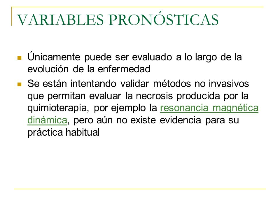 VARIABLES PRONÓSTICAS