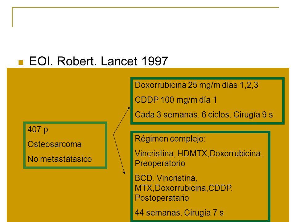 EOI. Robert. Lancet 1997 Doxorrubicina 25 mg/m días 1,2,3